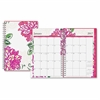 Blue Sky Dahlia Small Frosted Planner - Small Size - Weekly, Monthly, Daily - 1 Year - January till December - 2 Month, 2 Week Double Page Layout - Twin Wire - Frosted, Multicolor - Writable Surface,