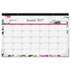"""Dahlia Desk Calendar Pad - Julian - Monthly, Daily - 1 Year - January till December - 1 Month Single Page Layout - 17"""" x 11"""" - Desk Pad - Multicolor - Writable Surface, Notes Area, Appointmen"""