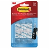 Command .5 lb. Clear Mini Hooks - 8 oz (226.8 g) Capacity - for Home - Clear - 6 / Pack