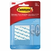 "Command Damage-free Adhesive Strip Refills - 0.63"" Width x 2.75"" Length - Plastic - Residue-free, Stain Resistant - 9 / Pack - Clear"
