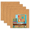 "The Board Dudes 12""x12"" Cork Tiles - 12"" Height x 12"" Width - Light Brown Cork Surface - 1 Pack"
