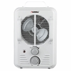 Lorell Portable Ceramic Heater Fan - Ceramic - Electric - Electric - 900 W to 1.50 kW - 2 x Heat Settings - 1500 W - Portable - White