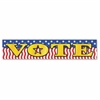 "Teacher Created Resources Vote Banner - 39"" Width x 8"" Height - Vote - Red, White, Blue"