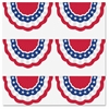 "Patriotic Bunting Accents - 4"" Height x 7"" Width - White, Blue, Red - 30 / Pack"