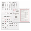 Unicor Fed Monthly Wall Calendar - Julian - Monthly - Wall Mountable - White - Perforated, Punched