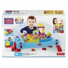 Mega Bloks First Builders Build 'n Learn Table - Portable Folding Table Building Set - Includes Over 20 First Builders Blocks and Two Rolling Wheelbases