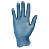 Powder Free Blue Vinyl Gloves - X-Large Size - Vinyl - Blue - Powder-free, Latex-free, Comfortable, Silicone-free, Allergen-free, DINP-free, DEHP-free - For Food, Janitorial Use, Cosmetics