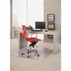 "Lipped Linear Chairmat - 48"" Length x 36"" Width - Rectangle - Clear"