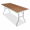 "Natural Plywood Rectangular Folding Table - Rectangle Top - Folding Base - 30"" Table Top Width x 96"" Table Top Depth x 0.75"" Table Top Thickness - 29"" Height - Natural"
