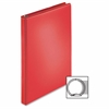 "Business Source Ring Binder - 1/2"" Binder Capacity - Round Ring Fastener - 2 Internal Pocket(s) - Red - 1 Each"