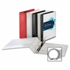 "Business Source Ring Binder - 1"" Binder Capacity - Round Ring Fastener - 2 Internal Pocket(s) - Red - 1 Each"