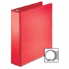 "Business Source Ring Binder - 2"" Binder Capacity - Round Ring Fastener - 2 Internal Pocket(s) - Red - 1 Each"