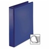 "Business Source D-Ring View Binder - 1 1/2"" Binder Capacity - Slant D-Ring Fastener - Internal Pocket(s) - Navy - 1 Each"