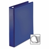 "Sparco Easy Open Nonstick D-Ring View Binder - 1 1/2"" Binder Capacity - D-Ring Fastener - 4 Pocket(s) - Polypropylene - Navy - 1 Each"
