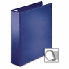 "Sparco Easy Open Nonstick D-Ring View Binder - 2"" Binder Capacity - D-Ring Fastener - 4 Pocket(s) - Polypropylene - Navy - 1 Each"