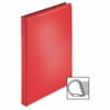 "Sparco Easy Open Nonstick D-Ring View Binder - 1"" Binder Capacity - D-Ring Fastener - 4 Pocket(s) - Polypropylene - Red - 1 Each"