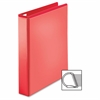 "Sparco Easy Open Nonstick D-Ring View Binder - 1 1/2"" Binder Capacity - D-Ring Fastener - 4 Pocket(s) - Polypropylene - Red - 1 Each"