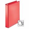 "Ring Binder - 1 1/2"" Binder Capacity - D-Ring Fastener - 4 Pocket(s) - Polypropylene - Red - 1 Each"