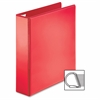 "Sparco Ring Binder - 2"" Binder Capacity - D-Ring Fastener - 4 Pocket(s) - Polypropylene - Red - 1 Each"
