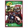 "Marvel Avengers Giant Coloring Pages - 18 Pages 19.50"" x 12.75"" - Multicolor Paper - 1Each"