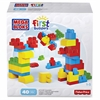 Mega Bloks First Builders Let's Get Building Set - Theme/Subject: Learning, Fun - Skill Learning: Building, Shape, Color, Imagination, Discovery, Fine Motor - 40 Pieces