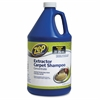 Zep Commercial Extractor Carpet Shampoo Concentrate - Concentrate Liquid - 1 gal (128 fl oz) - 4 / Carton - Blue