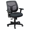 "Eurotech Apollo Synchro-tilt Task Chair - Fabric Black Seat - Black Back - 5-star Base - 20.50"" Seat Width x 19.30"" Seat Depth - 26"" Width x 19.3"" Depth x 38.5"" Height"
