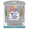 The Write Dudes Scribble Stuff Super Gel Pens - Metallic, Neon Gel-based Ink - 24 / Pack