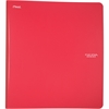 "Five Star 1"" Plastic Binder (29182) - 1"" Binder Capacity - 3 x Ring Fastener(s) - 2 Pocket(s) - 1 Divider(s) - Plastic - Red - 1 Each"