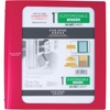 "1"" Customizable Plastic Binder (29028) - 1"" Binder Capacity - 200 Sheet Capacity - 3 x Ring Fastener(s) - 2 Pocket(s) - 1 Divider(s) - Plastic - Red - 1 Each"