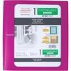 "1"" Customizable Plastic Binder (29028) - 1"" Binder Capacity - 200 Sheet Capacity - 3 x Ring Fastener(s) - 2 Pocket(s) - 1 Divider(s) - Plastic - Purple - 1 Each"