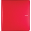 "1 1/2"" Plastic Binder (29184) - 1 1/2"" Binder Capacity - 11 7/32"" x 11 47/64"" Sheet Size - 300 Sheet Capacity - 3 x Ring Fastener(s) - 2 Pocket(s) - 1 Divider(s) - Plastic, Poly - Red - 1 Ea"