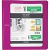"Mead Customizable 1-1/2"" Plastic Binder - 1 1/2"" Binder Capacity - 300 Sheet Capacity - 3 x Ring Fastener(s) - 1 1/2"" Fastener Capacity - 2 Divider(s) - Plastic - Purple - 1 Each"