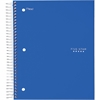 "Five Star Wide Rule 5-subject Notebook - 200 Sheets - Printed - Wire Bound - Wide Ruled 8"" x 10.50"" - Blue Cover - Plastic Cover - 1Each"