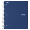 "Five Star Wirebound College Ruled Notebook - 3 Subject (06210) - 150 Sheets - Printed - Wire Bound - College Ruled - Letter 8.50"" x 11"" - Navy Cover - Kraft Cover - 1Each"