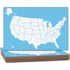 Flipside US Map Dry-erase Board - Theme/Subject: Learning - Skill Learning: Map, Map Skill