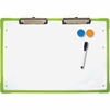 "Flipside Desktop Slant Board Set - 17.3"" (1.4 ft) Width x 12"" (1 ft) Height - White Surface - Green Frame - Rectangle - Desktop - 1 Each"