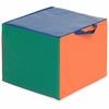 "ECR4KIDS Softzone Carry Me Cube - Adult - Foam, Vinyl - 16"" Width x 16"" Depth x 12"" Height"