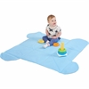 "ECR4KIDS SoftZone Play and Store Mat - 48"" Length x 48"" Width x 0.50"" Thickness - Square - Vinyl, Foam - Blue"