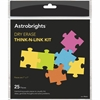 Astrobrights Dry Erase Think-n-Link Kit - Skill Learning: Idea, Thinking, Problem Solving - 25 Pieces