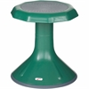 "ECR4KIDS 15"" ACE Stool - Rounded Base - Green - Polypropylene, Plastic - 13"" Width x 13"" Depth x 15"" Height"