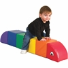 ECR4KIDS Softzone Sit & Play Rainbow Caterpillar - Large - Multi-colored - Vinyl, Polyurethane Foam