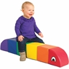 ECR4KIDS Sit/Play Rainbow Caterpillar - Multi-colored - Polyurethane Foam, Vinyl