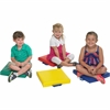 "ECR4KIDS Softzone 4 Piece Square Carry Me Cushion - 15"" x 15"""