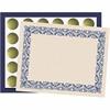 Flipside Art Deco Blue Border Certificate Pk