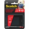 "Scotch Extremely Strong Fasteners - 1"" Width x 3"" Length - Heavy Duty - 2 / Pack - Black"