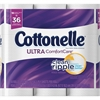 Kimberly-Clark Professional Cottonelle Ultra Comfort Bath Tissue - 2 Ply - 154 Sheets/Roll - White - Soft, Absorbent, Textured, Sewer-safe, Septic-free - For Toilet - 18 / Pack