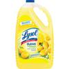Lysol Clean/Fresh Lemon Cleaner - Liquid - 1.13 gal (144 fl oz) - Clean & Fresh Lemon Scent - 1 Each - Yellow
