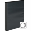 "Sparco Premium Round Ring View Binders - 1"" Binder Capacity - Letter - 8 1/2"" x 11"" Sheet Size - 175 Sheet Capacity - 3 x Round Ring Fastener(s) - 2 Internal Pocket(s) - Polypropylene - Black - 1 Each"