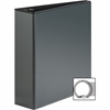 "Sparco Premium Round Ring View Binders - 3"" Binder Capacity - Letter - 8 1/2"" x 11"" Sheet Size - 3 x Round Ring Fastener(s) - 2 Internal Pocket(s) - Polypropylene - Black - 1 Each"